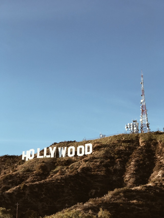 Hiking up to the Hollywood sign