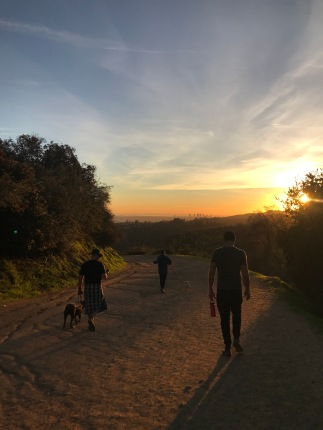 Hollywood sign hike at sunset