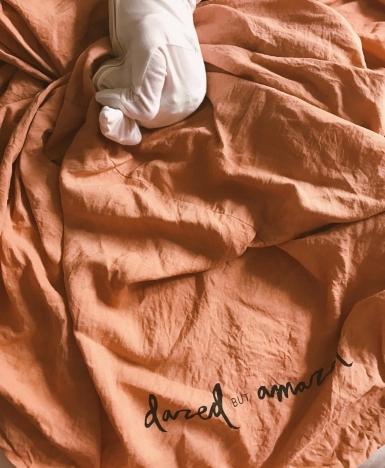 Hand dyed pure flex linen