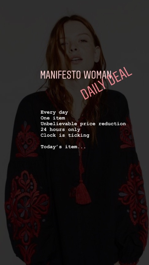 Manifesto Woman Daily Deal - massive discounts on secondhand designer clothes
